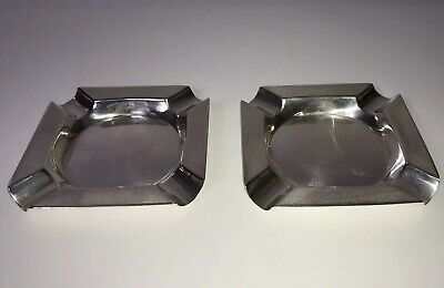 1961 Mappin & Webb Sterling Silver Hallmarked Matching Ashtrays