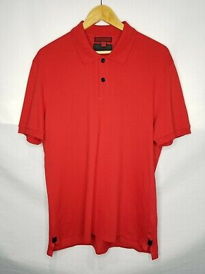 Burberry Sport Mens Active Polo Shirt Short Sleeve Red Size XL Mens Brit London