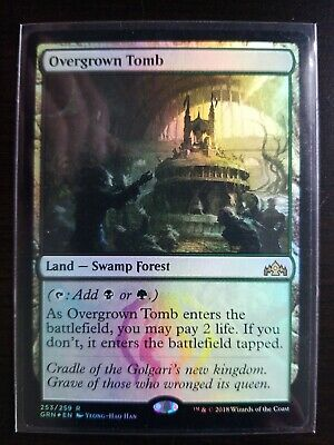 1x overgrown tomb FOIL MTG Ravnica Lp To Nm Same Day Fast Shipping