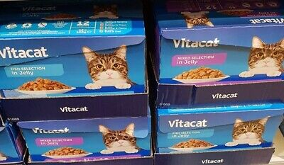 Vitacat cat food in JELLY beef chicken tuna salmon trout fish 100g pouches