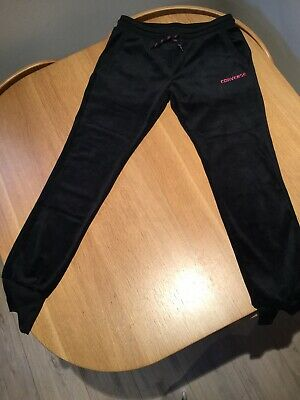 Gorgeous Girls Converse Black Velour Sweatpants BNWT Size 12-13 Years