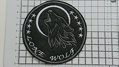 Lone Wolf Motor Cycles Embroidered Biker Patches/Badges(Sew-On/Iron-On)