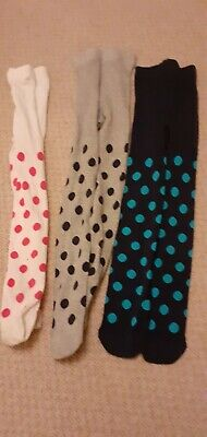 M&S Girls Age 3-4 Tights Good Used Condition