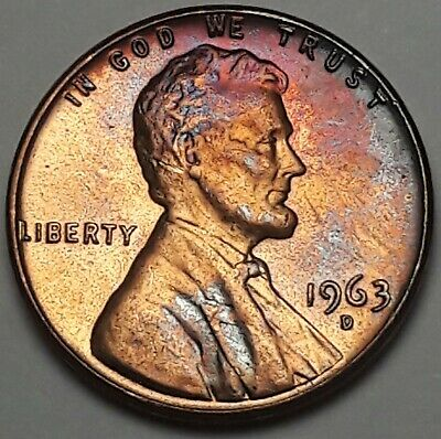 US Coin Free Shipping! 1963-D Lincoln Memorial Cent Penny GEM BU Red