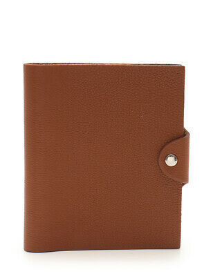 HERMES Ulysse PM notebook cover leather Gold