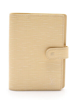 LOUIS VUITTON Agenda PM epi notebook cover leather Vanille