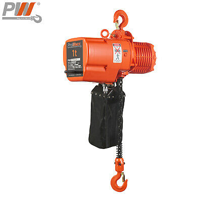 Prowinch 1 ton Electric Chain Hoist 20 ft G100 Chain H3 208~230/460V Wireless