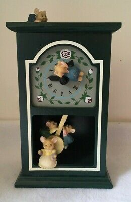 Music Box Mouse Clock Hickory Dickory Dock collectable
