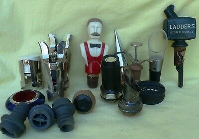 Lot of 16 Vintage Stoppers Bar Items