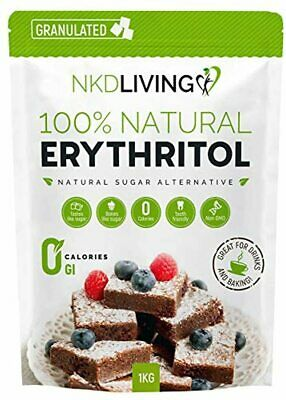 100% Natural Erythritol 1 Kg (2.2 lb) Granulated ZERO Calorie Sugar Replacement