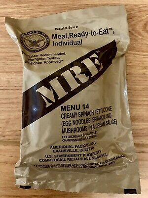 US ARMY MRE Meal Ready to Eat Menu 14 -2022 MRE US ARMY Military Sterile clean