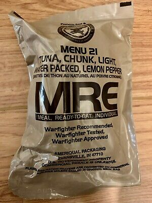 US ARMY MRE Meal Ready to Eat Menu 21 -2022 MRE US ARMY Military Sterile clean