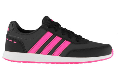 ADIDAS Switch 2 Trainers Junior Girls Black/Pink Size UK 4 US 4.5  *REFCRS50