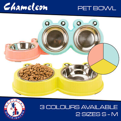Dog Puppy stainless Double bowls Cat Pet Animal Feeding Food Water