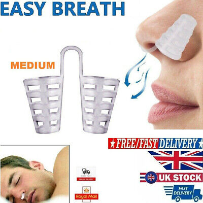 Anti Snoring Easy Breathe Sleep Nasal Dilators Aid Device No Strips Nose Clip UK