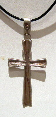 ATTRACTIVE VINTAGE EARLY 20 th.c. RUSSIAN ORTHODOX SILVER 925% CROSS  # 804