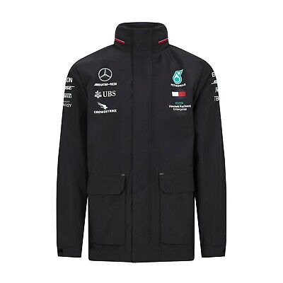 NEW 2020 Mercedes AMG F1 Lewis Hamilton Team Rain Jacket Coat MENS - OFFICIAL