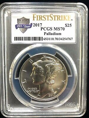 2017 1ozt Palladium American Eagle PCGS MS-70, First Strike (225th Anniversary)