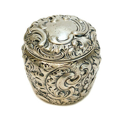 George W. Shiebler & Co. Sterling Silver Lidded Jar, c1900. #2267. Repousse