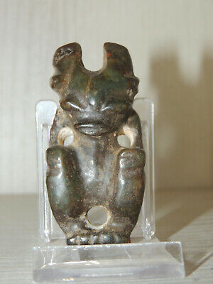 Antique Mongolian Carved Stone figure statuette,idol,god,alien,monster,amulet