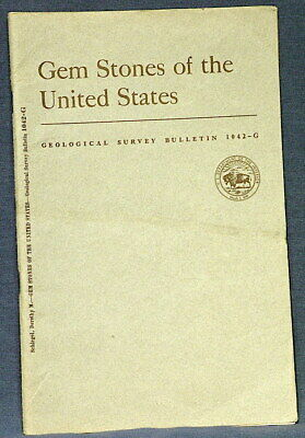 USGS GEMSTONES OF THE UNITED STATES Scarcest Report! VINTAGE 1957 AWESOME!!