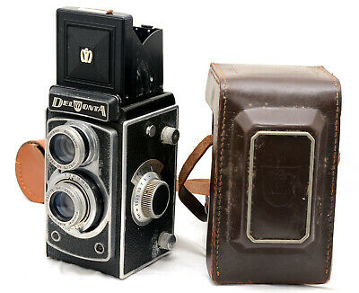 Vintage Montanus  Delmonta 120mm TLR Camera with Case