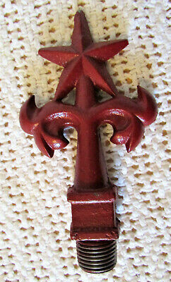 Vintage Cast Iron Star Finial Topper Lamp Light Coffee Grinder Fence Post
