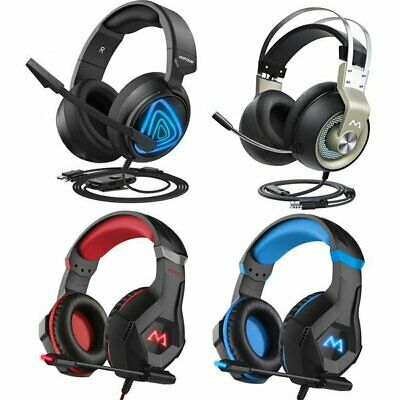 MPOW Gaming Headset LED Stereo Surround Headphone 3.5mm Wired For PS4 Xbox one