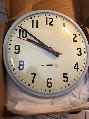 """Fabulous 10"""" National Time Electric Cafeteria Wall Clock New!"""