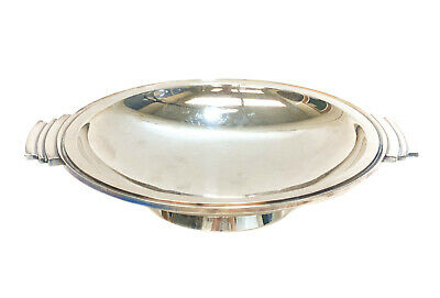 Georg Jensen Art Deco Sterling Silver Twin Handled Dish in Pyramid #600A Vintage