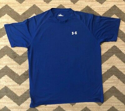 Under Armour State Print T-Shirt Illinois Men's Size LARGE Blue NWT Free S//H!
