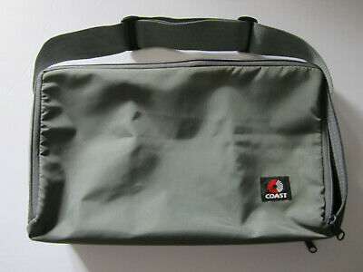 Vintage Coast 60 Cassette Tape Grey Carrying Bag Case Double Sided w/ Strap