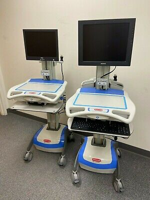 RUBBERMAID Healthcare M38 PORTABLE MONITOR MEDICAL SUPPLY CARTS