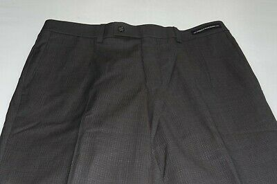 $168 NWOT Jack Victor Prossimo Men's Flat Front 100% Wool Dress Pants Waist 34