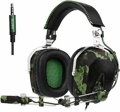 Wired Stereo Bass Surround Gaming Headset for PS4  PC with Mic