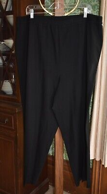 Eileen Fisher Pants 3X woman Plus Size womens Pull On Slacks Dress Casual Black