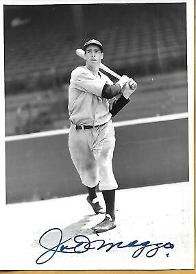 Joe Dimaggio Autographed Black & White Picture