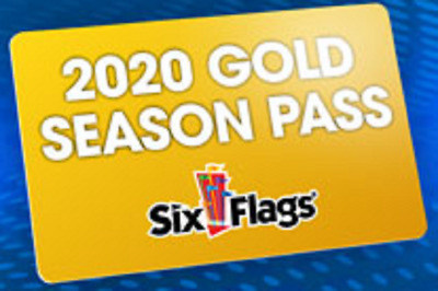 One Six Flags 2020 Gold Season Pass One Year Admission Amusement Rides Parking