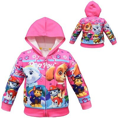 Paw Patrol Skye girls baby toddler hoodie top thin jacket size 3-8 au stock