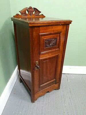 An Antique Victorian Mahogany Bedside Table Cabinet ~Delivery Available~