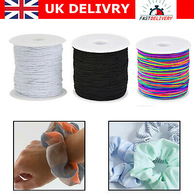 Black & White Stretch Round Elastic Waist Band Woven Sewing Trouser Dressmaking