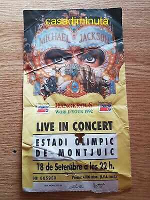 Michael Jackson entrada ticket Live in Barcelona DANGEROUS TOUR 1992 original