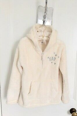 Girls Gap Fleece Hoodie With Pouch Pocket In Cream Age 12  Brand New LAST ONE