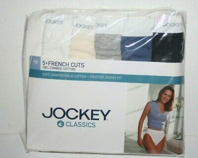 NEW Vtg 5 Pack Jockey Panties Underwear sz 6 39-41 French Cut Classic Cotton