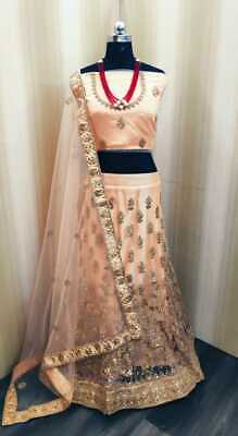 Net with jari & gota patti work 3 mtr flair with net choli work in blouse