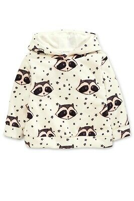 Next Ecru Raccoon Fleece Hoody age 5-6 NEW with tags