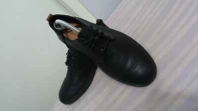 Clarks Men's Black Leather Lace-Up Shoes Sz UK 7G/EU 41& US 8 Great Condition