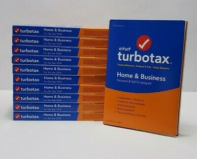 Intuit TurboTax Home & Business 2018 Federal E-File State