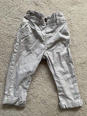 Next Boys Chino Trousers Stone Colour Age 9-12 Months