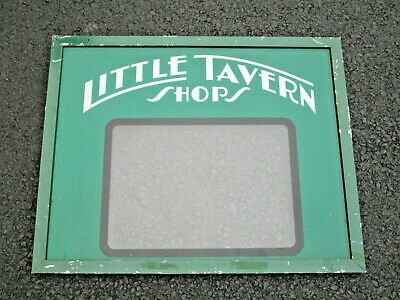 1940's-50's LITTLE TAVERN SHOPS OPEN/CLOSED SIGN BALTIMORE MARYLAND BURGER JOINT